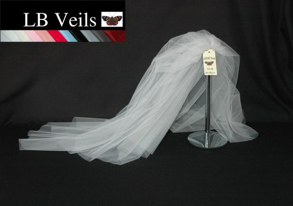 Pink Crystal Veil Wedding Any Length Single Tier Sparkle Long LBV158 LB Veils UK