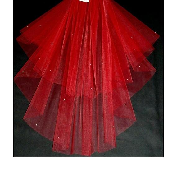 2 Tier Crystal Wedding Veil LB Veils 151 UK