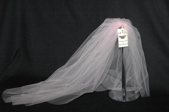 2 Tier Plain Soft Pink Bouffant LB Veils LBV161 UK