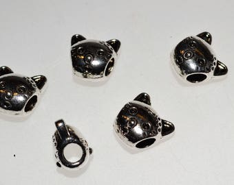 5 beads big hole Cat Head