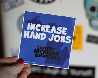 michigan jobs sticker
