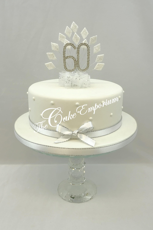 Cake Topper White Diamond burst spray with birthday or   Etsy