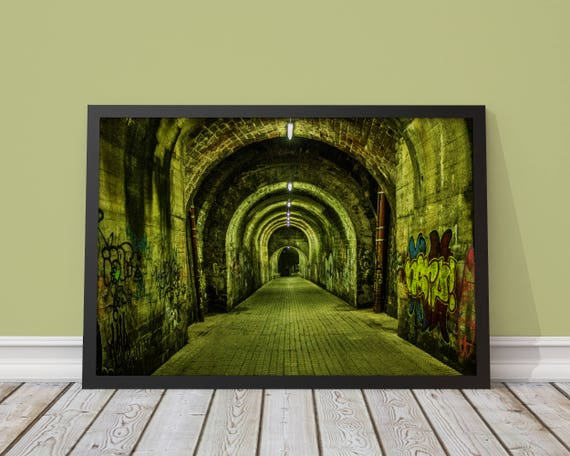Tunnel Saarbrücken Germany Poster Photography Photo Etsy