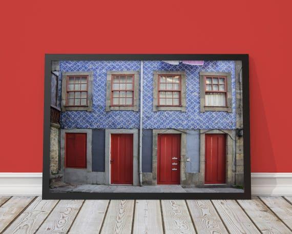 Doors Porto Portugal Poster Photography Photo Fine Etsy