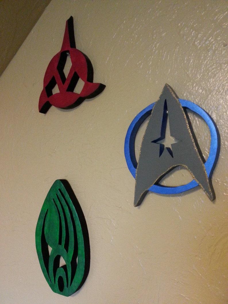 Borg Emblem Wooden Star Trek