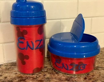 Personalized Mickey Sippy Cup& Snack Set
