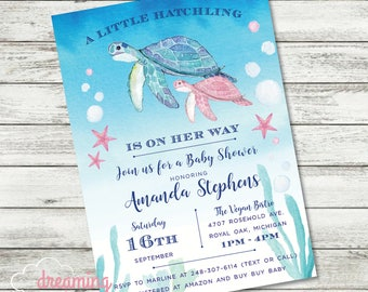 Turtle Baby Shower Etsy