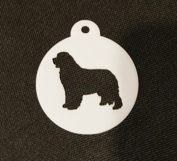2 sizes available Newfoundland Dog Cupcake Cookie Biscuit Coffee Stencil