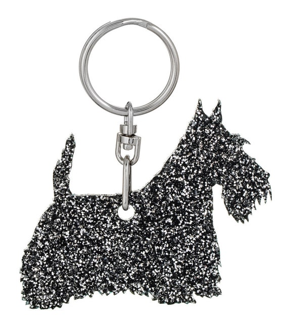 10 colour choices. Glitter acrylic pet trim Poodle keyring//bag charm