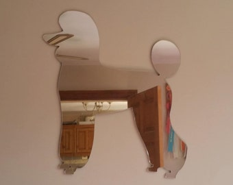 Silver Acrylic (Perspex) Poodle Mirror
