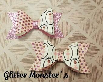 Ballet Dancer Hair Bow, Pink Ballerina Hair Bow, Pink Glitter Bow, Dancer Bow, Toddler Bows, Ballet Dancer Hair Bow, Hair Accessories