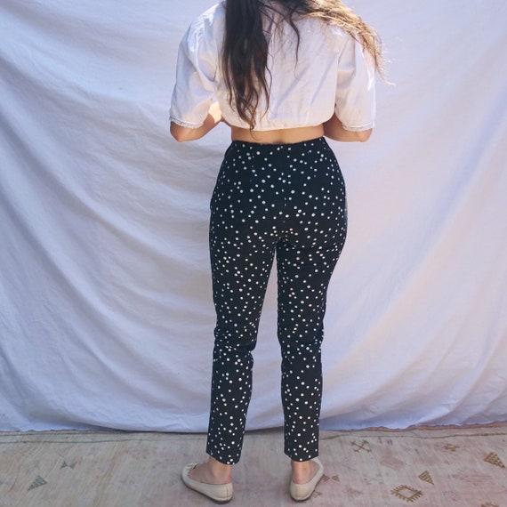 1960s Handmade Polka Dot Pants - image 4