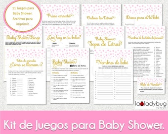 Baby Shower Bingo Cards In Spanish Printable Baby Shower Etsy