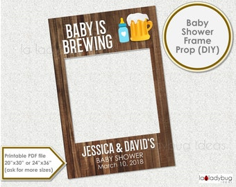 Beer Poster Party Decorations Baby Shower Photo Booth Prop Frame Brewing Baby Shower Selfie Frame 8101153