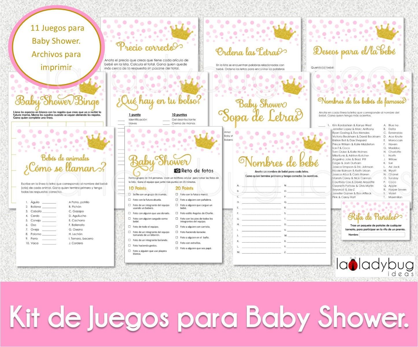 Juegos Divertidos Para Baby Shower Mixto Para Imprimir Rjmovers Com