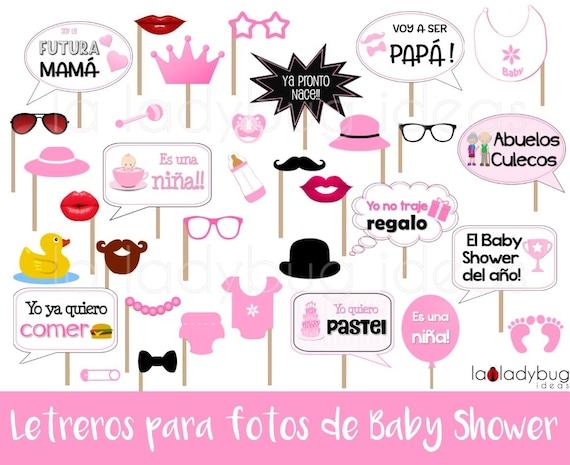 Letreros Para Fotos De Baby Shower Nina Archivo Para Etsy