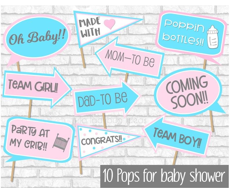 Gender Reveal Baby Shower Props Boy Or Girl Baby Shower Photo Etsy