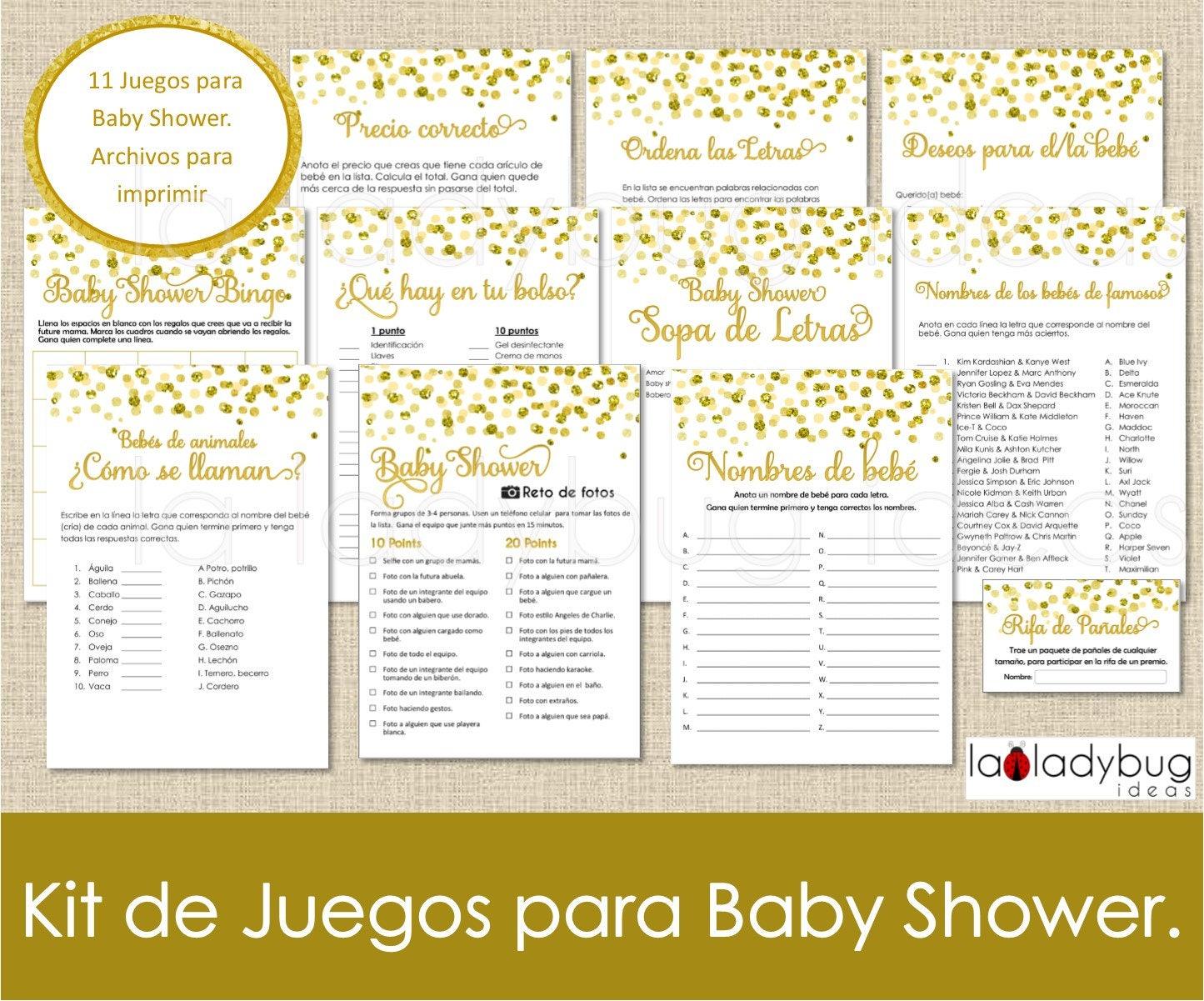 Juegos Para Baby Shower Archivos Pdf Jpeg Para Imprimir 11 Etsy