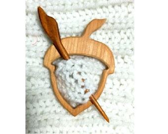 Wooden Shawl Pin Etsy