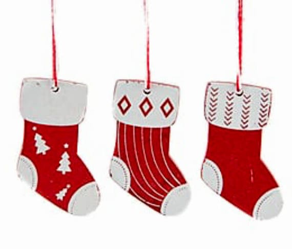 Christmas stocking, ornaments, christmas decorations, decorations,  wood,tree decorations