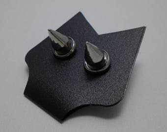 Industrial Punk Earrings 8 mm - Two Colors Available