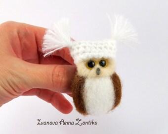 Owl brooch  brown owl Owl jewelry Felt owl pin Love birds jewelry  brooch jewelry felted animal pins  Felt owl brooch, Animal brooch