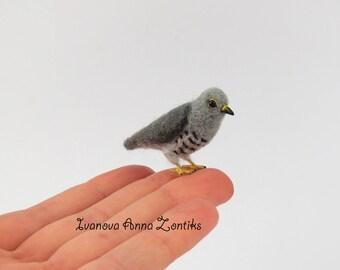 Felted cuckoo, Felted bird,  miniature birds, tiny birds, needle felted cuckoo, cuckoo miniature, bird miniature, mini cuckoo, cuckoo