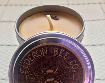 Clove // Handmade Beeswax Candle // 100% Natural // Scented with Essential Oils // Aromatherapy