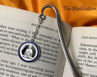SRI YUKTESWAR BOOKMARK Yogananda Lahiri Mahasaya Babaji Spiritual Eye Bookmark Paramahansa Yogananda Gift for Yogi Self Realization Kriya