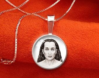 BABAJI Sterling Silver Pendant Paramahansa Yogananda Jewelry SRF Guru Mahavatar Babaji Necklace Kriya Yoga Pendant 16mm or 20mm