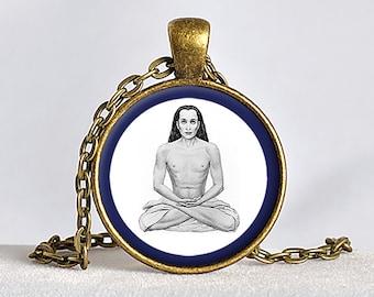 BABAJI PENDANT Paramahansa Yogananda Jewelry SRF Gurus Necklace Babaji Necklace Kriya Yoga Pendant Self-Realization Yoga Gift Meditation