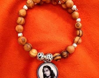 YOGANANDA BRACELET Paramahansa Yogananda Jewelry SRF Guru Bracelet Kriya Yoga Jewelry Meditation Bracelet Kriya Beads self-realization