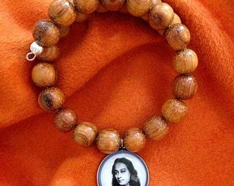 YOGANANDA BRACELET Paramahansa Yogananda Jewelry SRF Guru Bracelet Kriya Yoga Jewelry Meditatoin Bracelet Kriya Beads self-realization