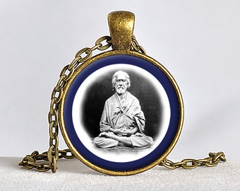 SRI YUKTESWAR Pendant Paramahansa Yogananda Jewelry SRF Guru Necklace Sriyukteswar Necklace Kriya Yoga Pendant Self-Realization Yoga Gift