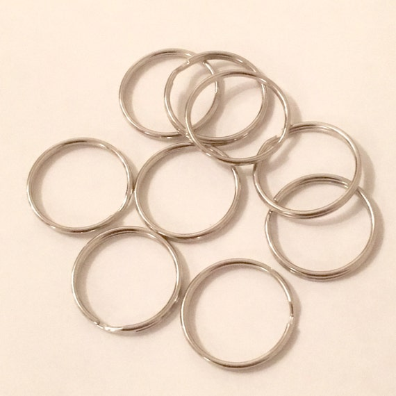 4 anillos de claves 66 X FS385 Enchapado en Oro 32 mm