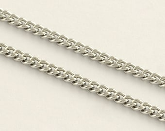 Necklace Chain 2 mm Stainless Steel Curb Chain 304 Grade Multiple Sizes Comes with Clasps | Chain for Necklaces | 0126