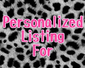 This is a Personalized Listing For Nicole Farley