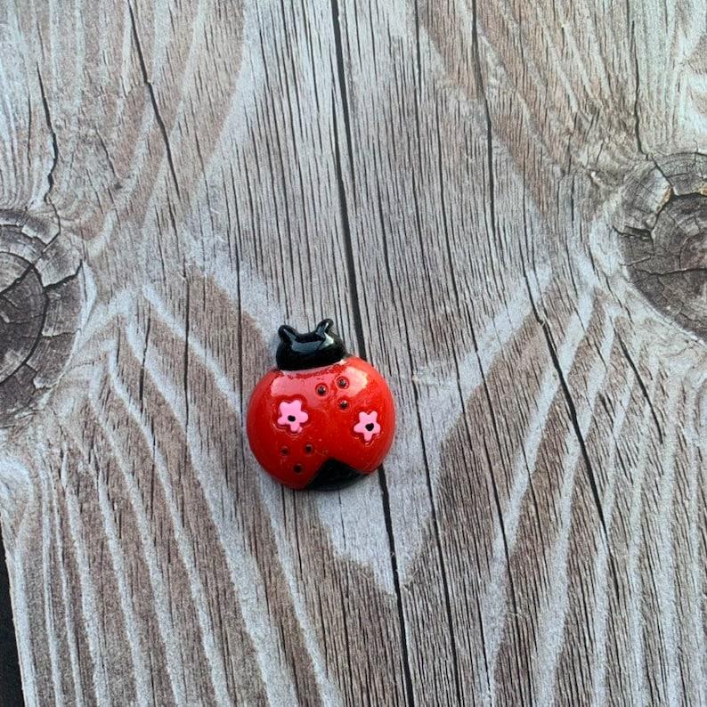 Ladybug flatback; Crafting flatback; cabochons; craft supplies