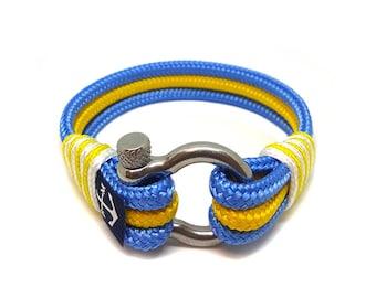 Sweden Nautical Rope Bracelet , Unisex Bracelet ,Sailor Bracelet ,Shackle Bracelet , Surfer Bracelet