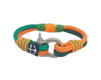 Pirate Nautical Rope Bracelet, Unisex Bracelet, Braided Rope Bracelet, Shackle Bracelet , Surfer Bracelet