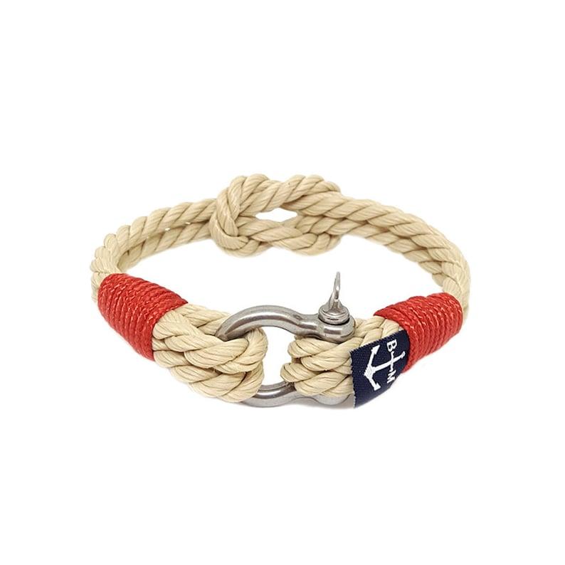 b5fb95c15f Nautyczna bransoletka sznurkowa bransoletka biżuteria ze