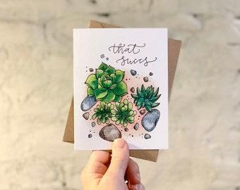 That Sucks Vintage Vacuum Sympathy Greeting Card