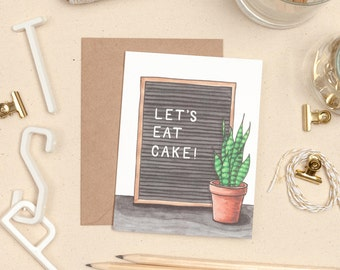 Letter board card, Letter Board Birthday Card, Greeting Card Set, Letter board quote, Plant Lover Greeting Card, Plant Lady Birthday Card