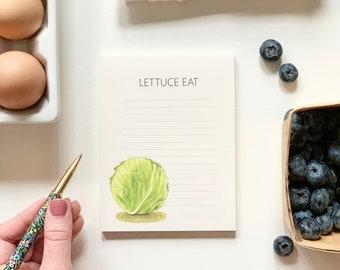 Grocery List Notepad, Veggie Notepad, Foodie Gift, Lettuce Eat, Food Pun Grocery List - Note Pad, Go Bananas, Make Lemonade,