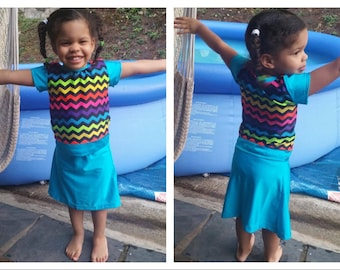 Girls Swim Skirt,