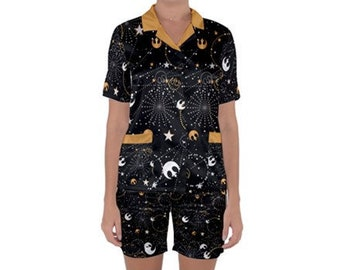 Space Rebellion Satin Sleep Set
