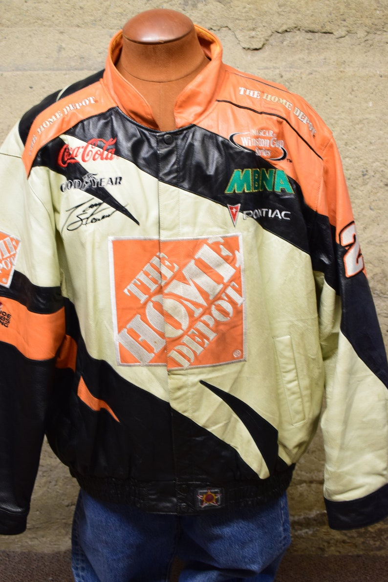 Vintage Tony Stewart #20 Home Depot Chase Racing Jacket Size 3XL NASCAR 90/'s