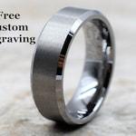 Tungsten Ring, Men's Tungsten Wedding Band, Men's Tungsten Ring, Tungsten Band, Tungsten, Men's Tungsten, Personalized Engraving, Men's Ring