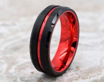 Red wedding ring Etsy