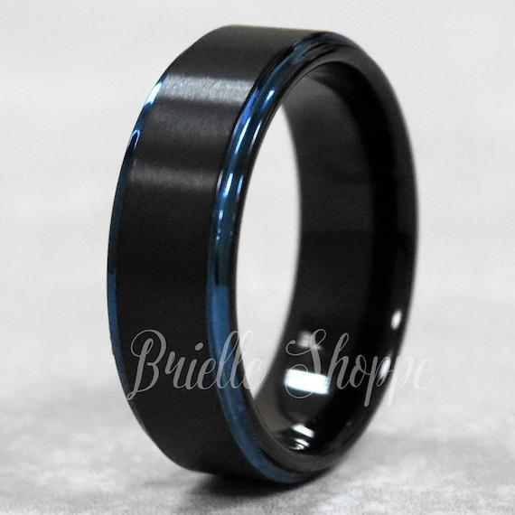 Men Tungsten Ring Black Tungsten Carbide Ring Men/'s Wedding Ring Mens Tungsten Wedding Band Engraved Anniversary Gift Men/'s Gift